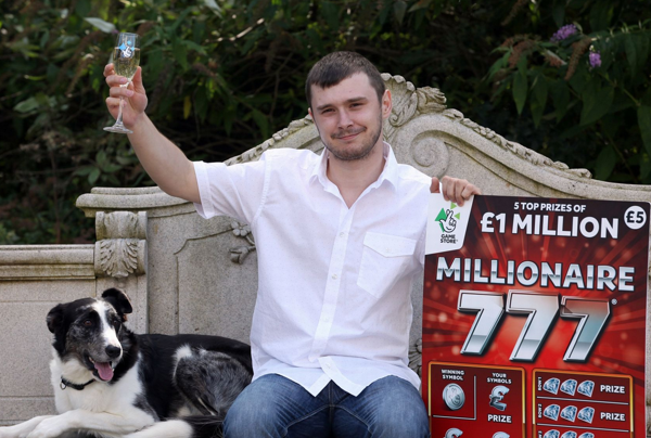 Lewis toasting his lotto win