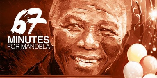 67 minutes on Mandela Day